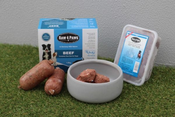 Clear Dog Treats Raw 4 Paws Beef Containers Beef Rolls