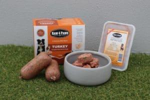 Clear Dog Treats Raw 4 Paws Turkey Containers Turkey Rolls