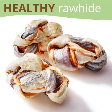 Fish Rawhide Knots Dog Treats