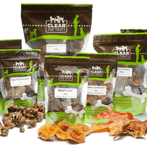 CLEAR dog treats packs